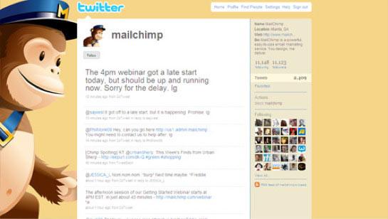 MailChimp's Twitter background
