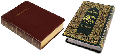 What criteria reliably distinguish the original word of God from interpretation of man; the Qur'an from the previous scriptures?
