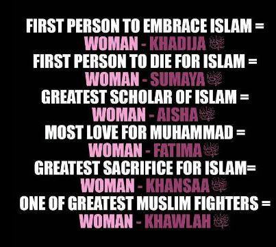 picture with facts about Muslim women