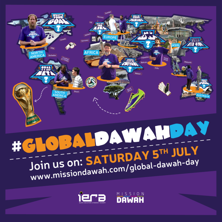 For the first time ever, be part of a single, global da`wah day that will be taking places across six continents at the same time!