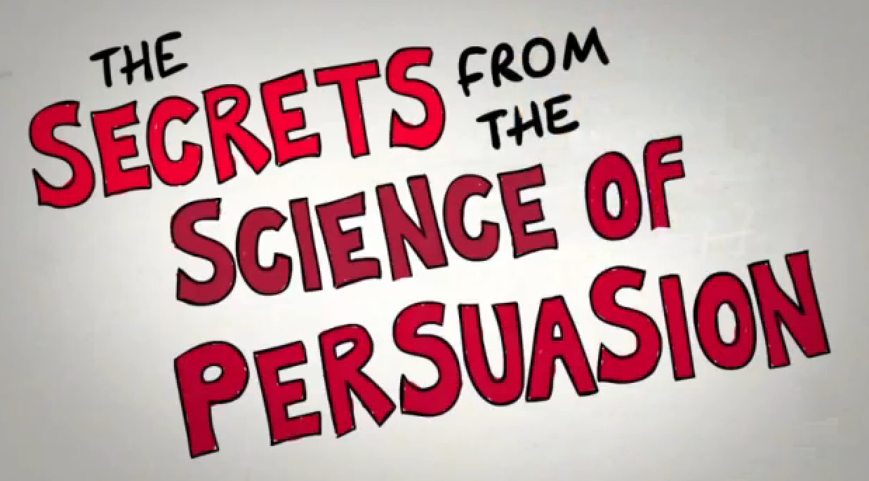 Animation describing the 'Universal Principles of Persuasion' based on the research of Dr. Robert Cialdini, Professor Emeritus of Psychology and Marketing, Arizona State University.