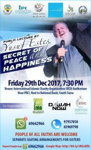 Lecture by world renowned Islamic scholar Yusuf Estes