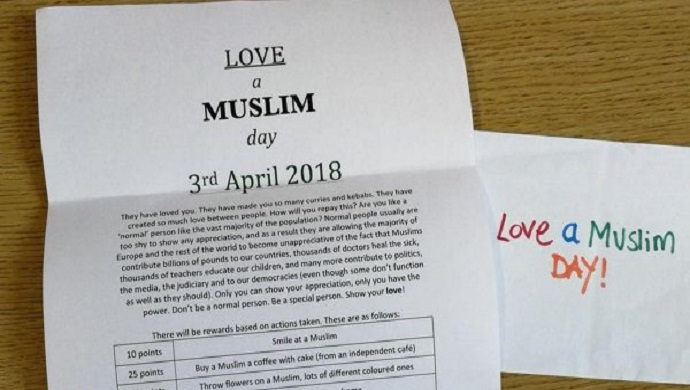 Love a Muslim Day against racism