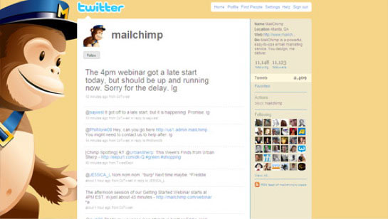 MailChimp's Twitter background